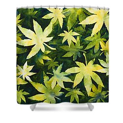 Shades Of Green Shower Curtain