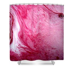 Shower Curtain featuring the painting Shades Of Pink by Salman Ravish
