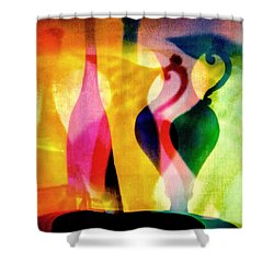 Shades Of Vase And Pitcher Shower Curtain