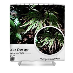 Shadow And Light Chinese Maple Shower Curtain