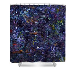 Shower Curtain featuring the painting Shadow Blue by James W Johnson