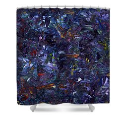 Shower Curtain featuring the painting Shadow Blue Square by James W Johnson