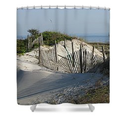 Shadow Fence Shower Curtain