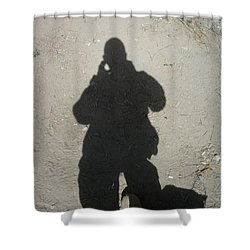 Shadow In Afghanistan  Shower Curtain