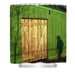 Shadow Man Shower Curtain by Rodney Lee Williams