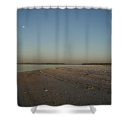 Shower Curtain featuring the photograph Shadow Moon by Robert Nickologianis