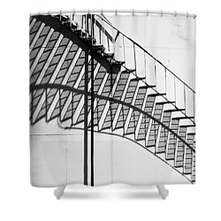 Shadow Of The Climb  Shower Curtain by Jack Zulli