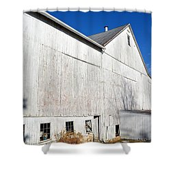 Shadow On White Barn Shower Curtain