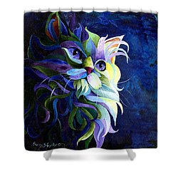 Shadow Puss Shower Curtain