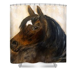Shower Curtain featuring the painting Shadow by Barbie Batson