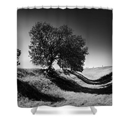 Shadow Time Shower Curtain