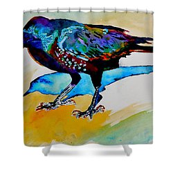Shadowland Visitor Shower Curtain by Beverley Harper Tinsley