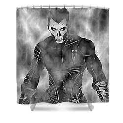 Shadowman In The Dead Grounds Shower Curtain by Justin Moore