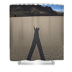 Shower Curtain featuring the photograph Shadowman by Joe Schofield