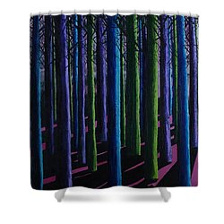 Shadows And Moonlight Shower Curtain