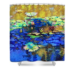 Shadows And Sunspots Shower Curtain by John Lautermilch