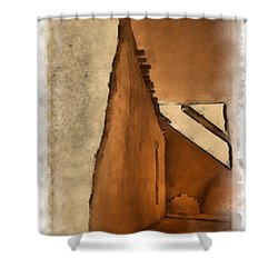 Shadows In Aquarell   Shower Curtain