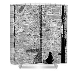 Shadows On St-laurent Shower Curtain by Valerie Rosen