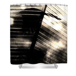 Shower Curtain featuring the photograph Shadows Symphony  by Jessica Shelton