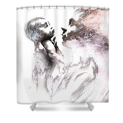 Shadowtwister Reflections Textured Shower Curtain by Paul Davenport
