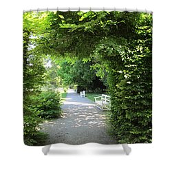 Shower Curtain featuring the photograph Shady Retreat by Pema Hou
