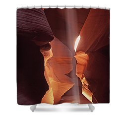 Shower Curtain featuring the photograph Shaft Of Light Antelope Canyon by Liz Leyden
