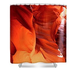Shaft Of Sunlight In A Canyon, Antelope Shower Curtain