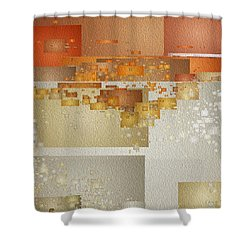 Shaken At Sunset Shower Curtain
