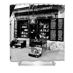 Shakespeare And Company Boookstore In Paris France Shower Curtain