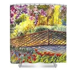 Shakespeare Garden Central Park New York City Shower Curtain by Carol Wisniewski