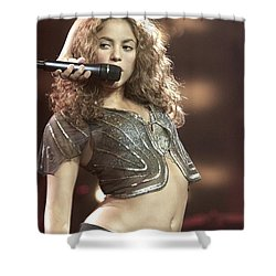 Shakira Shower Curtain by Concert Photos