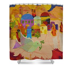 Shalom  Shower Curtain