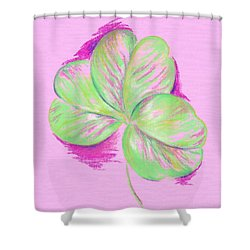 Shamrock Pink Shower Curtain by MM Anderson