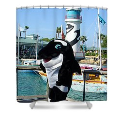 Shamu Shower Curtain by David Nicholls