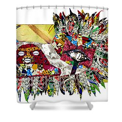 Shango Firebird Shower Curtain