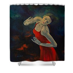 Shape Of My Heart... Shower Curtain by Dorina  Costras