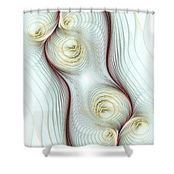 Shapes Shower Curtain by Anastasiya Malakhova