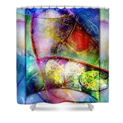 Shower Curtain featuring the painting Shapes In Color by Allison Ashton