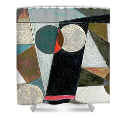 Shower Curtain featuring the drawing Shapes by Mary Bedy