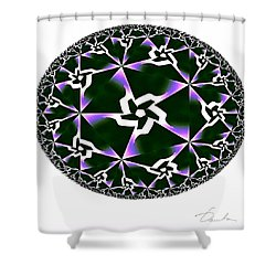 Shards Of Twiliths Shower Curtain by Danuta Bennett