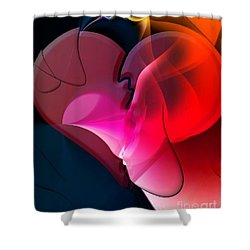 Shower Curtain featuring the digital art Share Your Heart By Nico Bielow by Nico Bielow