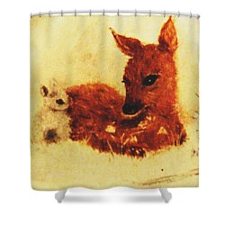 Shower Curtain featuring the painting Sharing Secrets by Hazel Holland