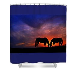 Sharing Supper Shower Curtain