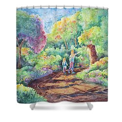 Sharing The Journey Shower Curtain by Michael Bulloch