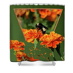 Shower Curtain featuring the photograph Sharing The Nectar Of Life by Thomas Woolworth