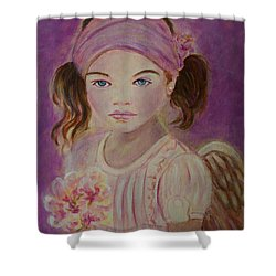 Sharissa Little Angel Of New Beginnings Shower Curtain by The Art With A Heart By Charlotte Phillips
