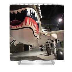 Shower Curtain featuring the photograph Shark Aircraft by Aaron Martens