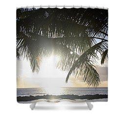Sharks Cove Sunset Shower Curtain by Brandon Tabiolo
