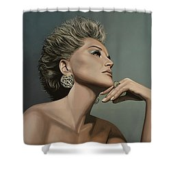 Sharon Stone Shower Curtain by Paul Meijering