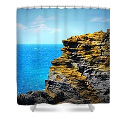 Sharp Cliff Shower Curtain by Amanda Eberly-Kudamik